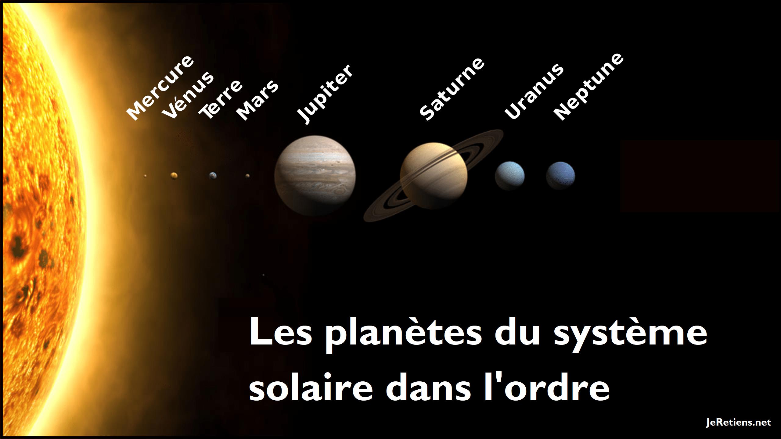 Comment retenir l'ordre des planètes du système solaire ?