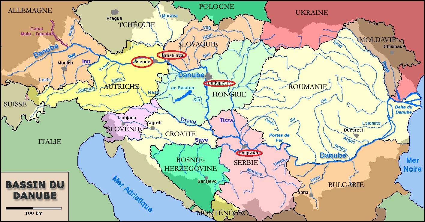 Capitales Deurope Traversées Par Le Danube