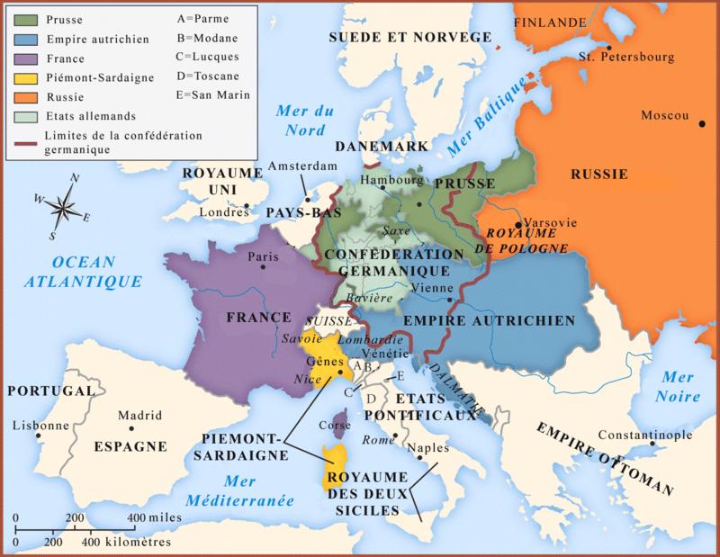 Europe après Congrès de Vienne 1815
