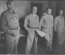 André Zeller, Raoul Salan, Maurice Challe et Edmond Jouhaud lors du Putsch d'Alger en 1961.