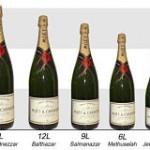 Contenance des bouteilles de champagne, du Nabuchodonosor au Magnum