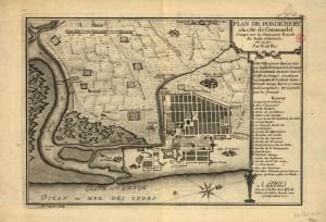 Plan de Pondichéry