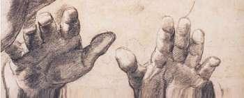 Raphaël, étude de têtes et de mains