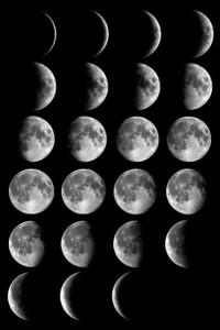 Les phases lunaires