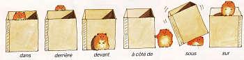 Illustration de quelques prépositions