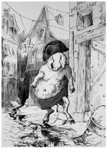 Napoléon III caricaturé par Faustin