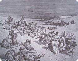 La Plaie de la Peste (mort des troupeaux) illustrée par Gustave Doré.
