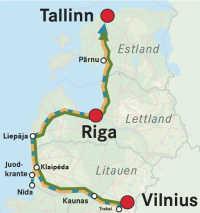 Tallinn, Riga, Vilnius