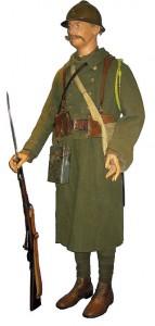 Uniforme kaki de la Légion Étrangère, Première Guerre Mondiale.