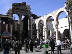 Les ruines du temple de Zeus à Damas