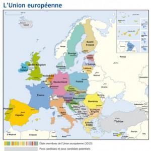 L'Europe des 28, en 2013
