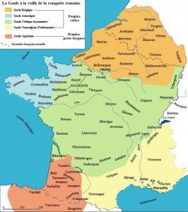La Gaule et ses peuples à la veille de la conquête romaine.