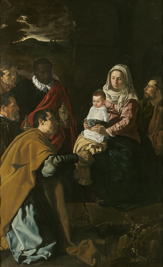 L'adoration des rois mages, peinture de Diego Velázquez, 1619.