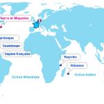 Les départements et collectivités d'Outre-mer