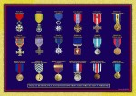 Les médailles qu'un militaire peut porter.