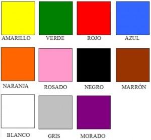 Les couleurs en espagnol.