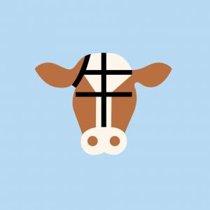 Vache, en chinois.