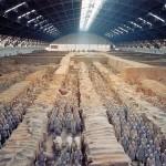 Les soldats en terre cuite de Shi Huangdi.