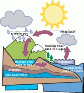 Le cycle de l'eau.