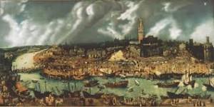 Fransisco Pacheco, Le port de Séville au XVIeme siècle.