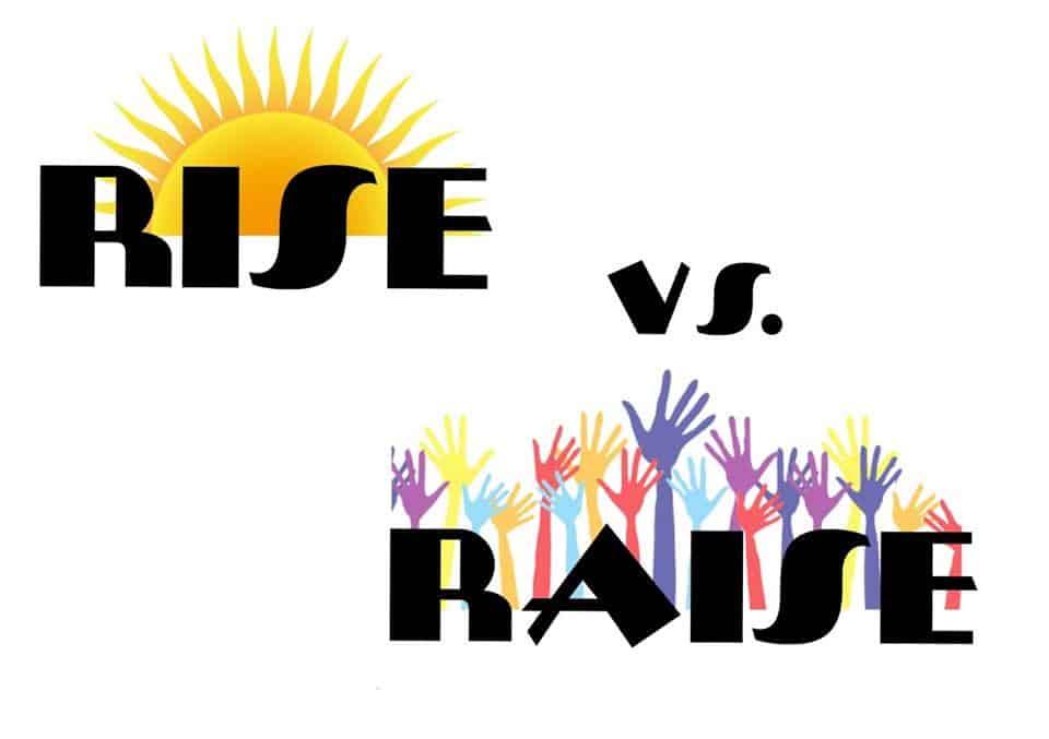 Différence entre les verbes to raise et to rise en anglais