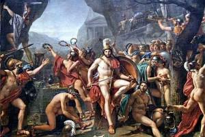 Léonidas aux Thermopyles Jacques-Louis David