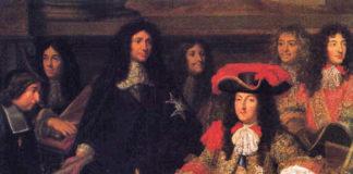 Louis XIV et son ministre Colbert, contrôleur des finances à cette époque, peints par Charles Le Brun en 1666.