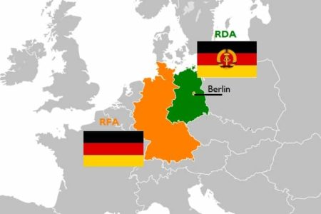 Carte Allemagne Divisee.Rfa Ou Rda Allemagne De L Est Ou De L Ouest