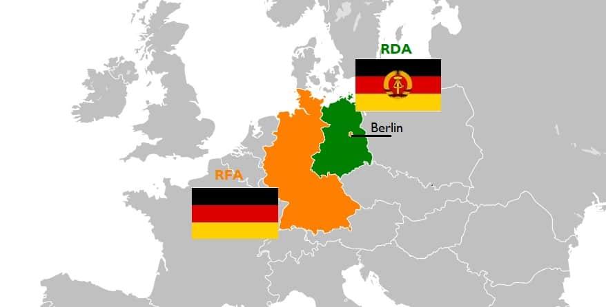 allemagne de l est carte RFA ou RDA ? Allemagne de l'Est ou de l'Ouest ?