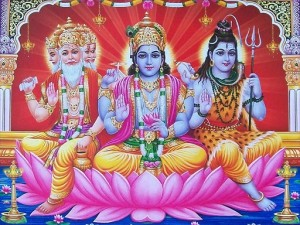 Brahmā, Vishnou et Shiva