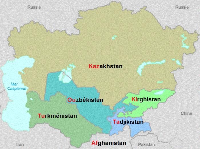 Carte Asie Facile.Pays D Asie Centrale
