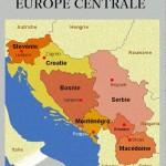 Carte des pays d'Europe centrale.