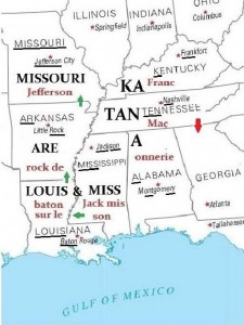 États-Unis, Arkansas, Louisiane, Mississippi, Missouri, Kentucky