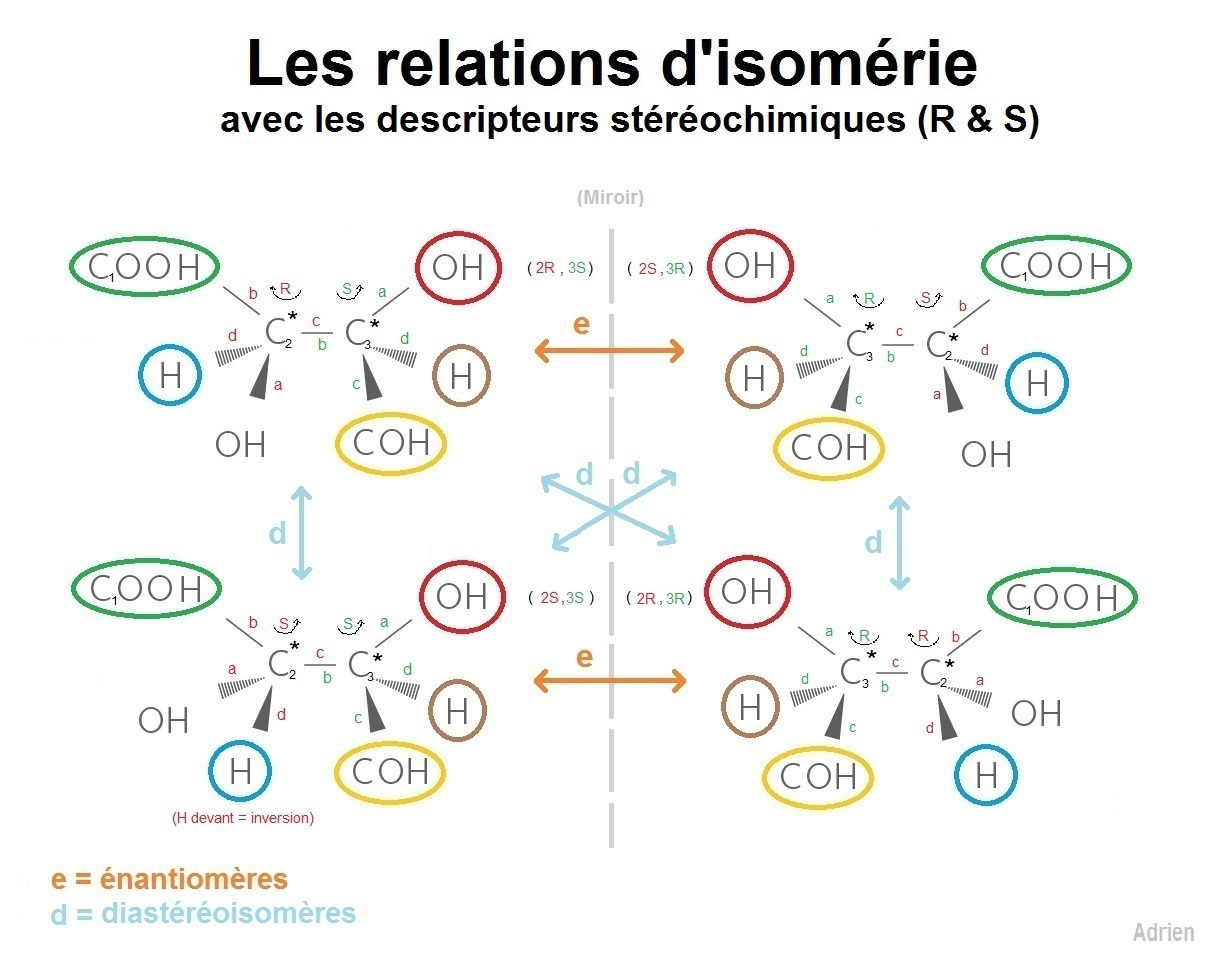 astuces_stéréochimie_stéréoisomères_énantiomères_diastéréoisomères_molécules_déscripteurs