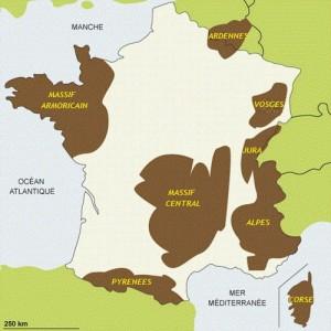 Les chaînes de montagnes en France