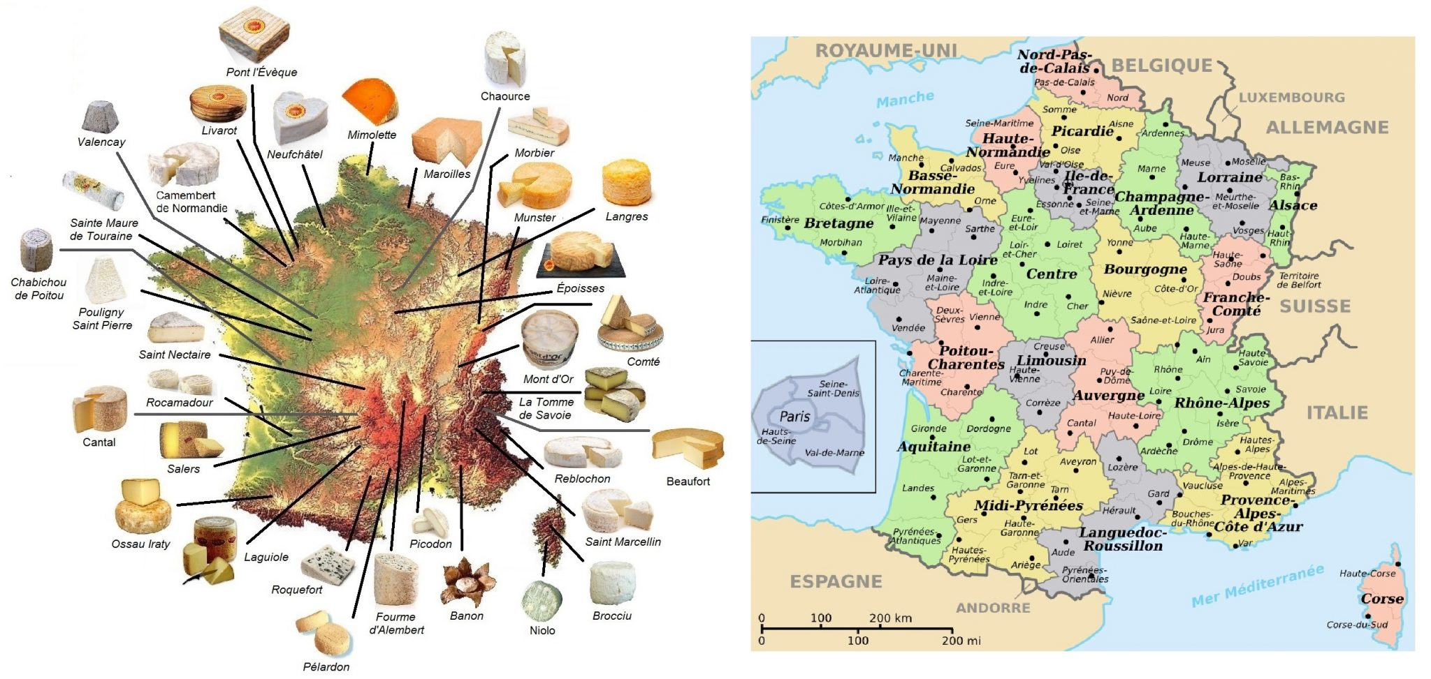atlas des fromages de france