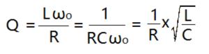 formules liées au facteur de qualité