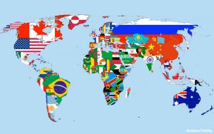 Tous les drapeaux des pays du monde sur une seule carte