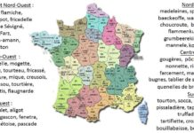 Carte gastronomique de la France