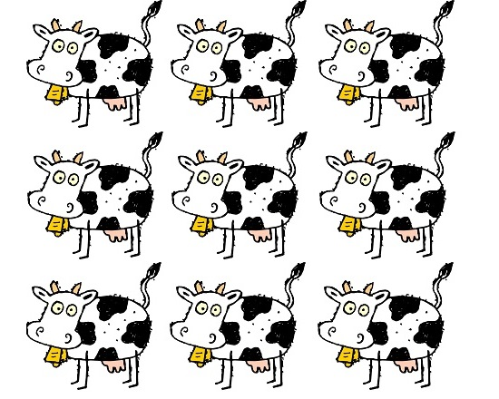 9 vaches 9 ans
