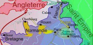 La Guerre de Cent Ans en images: carte de la France en 1330