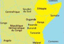 carte de l'Afrique de l'est