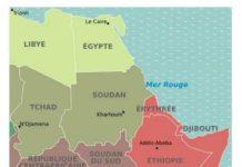 carte de la corne de l'Afrique