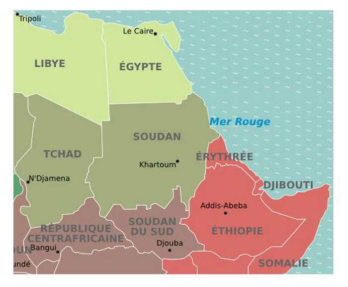 Carte Afrique Avec Soudan Du Sud.Capitale Du Soudan Et Soudan Du Sud
