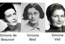 Simone de Beauvoir, Simone Weil, Simone Veil