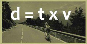 formule permettant de calculer une distance, vitesse et durée