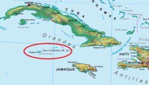 îles Caïmans carte