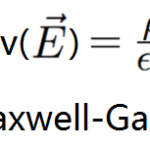 équation de maxwell gauss