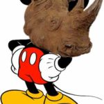 Mickey en rhinocéros !