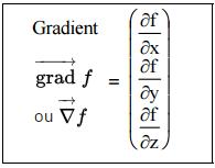 opérateur gradient